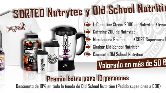 Sorteo Nutrytec, Xcore y Old School Nutrition