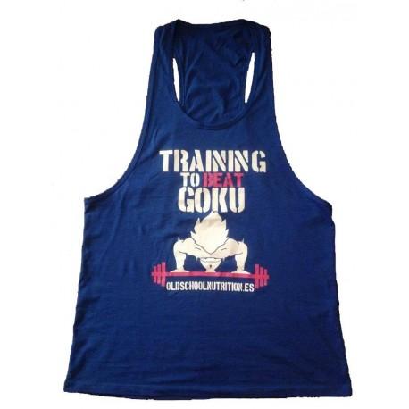 Camiseta Goku Azul Fucsia-Blanco