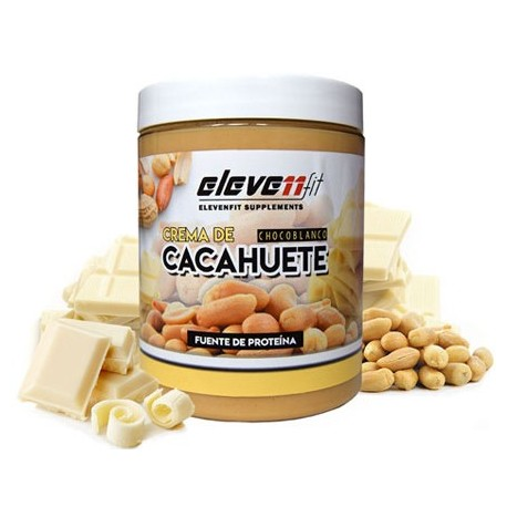 Crema Cacahuete 300g Chocolate Blanco